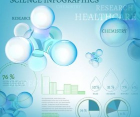 Science infographics modern template vector 02