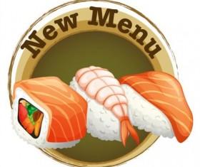 Sea food label vector