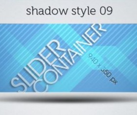 Shadows Styles Web Slider Psd Pack