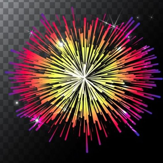 Shining holiday fireworks vector 01