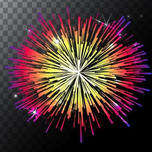 Shining Holiday Fireworks Vector 01 Vector Life Free