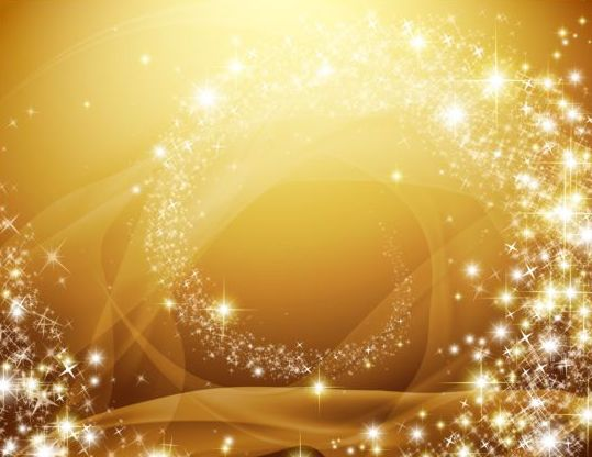 Shiny star light with golden background vector - Vector Background ...