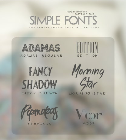 Simple Retro Fonts