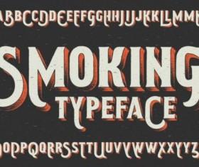 Smoking typeface vector 01
