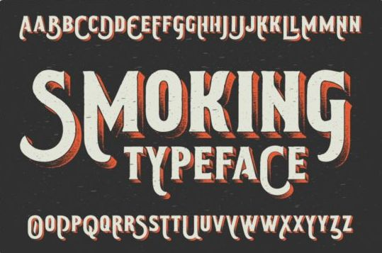 Smoking typeface vector 01 free download