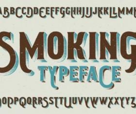 Smoking typeface vector 02