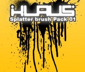 Splatter ink PS brushes