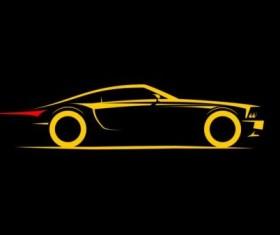 Sport car logos vectors set 01