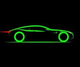 Sport car logos vectors set 06