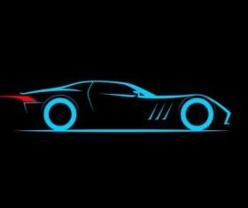 Sport car logos vectors set 07