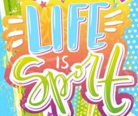 Sport life poster creative vector 03