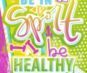 Sport life poster creative vector 07
