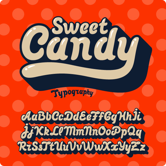 Sweet Candy font vector free download