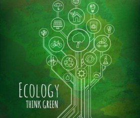 Tree shape Eco infographic vector 10