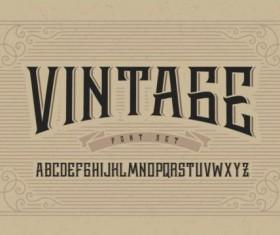 Vintage Typeface Returns vector