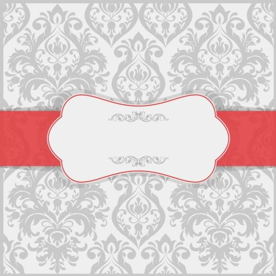 Vintage Ornate Invitation Background Vector 04  Free Invitation Backgrounds