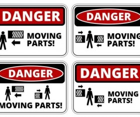 Warning danger signs creative vector 02