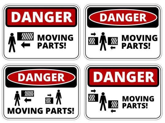 Warning danger signs creative vector 02