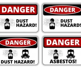 Warning danger signs creative vector 03