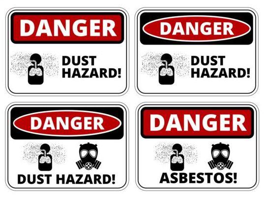 Warning danger signs creative vector 03