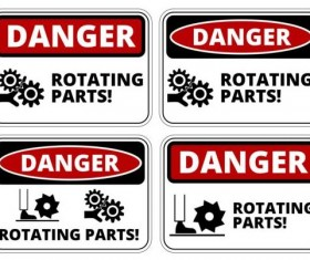 Warning danger signs creative vector 04