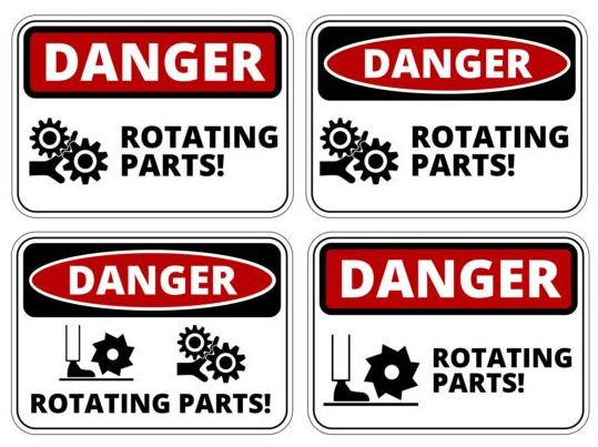 Warning danger signs creative vector 04