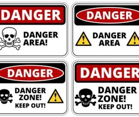 Warning danger signs creative vector 05