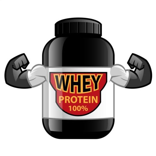 Whey proteins bottle vector template 08 - Vector Food free download: freedesignfile.com/249104-whey-proteins-bottle-vector-template-08