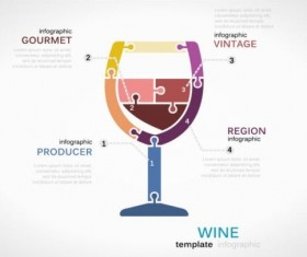 Wine infographics template vector