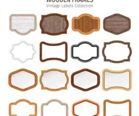 Wood frame vintage lables vector