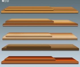 Wooden Shelf PSD Material