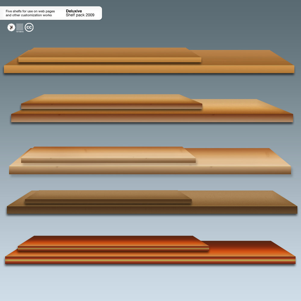 Wooden Shelf PSD Material