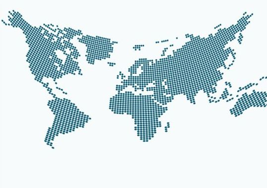 Free world map vector dots awesome graphic library world maps with round dots vector free download rh freedesignfile com gumiabroncs Image collections