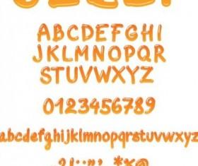 Yellow jelly alphabet vector
