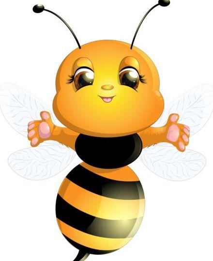 lovely cartoon bee set vectors 10 - Vector Animal free ...