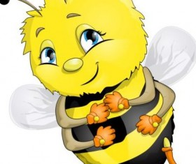 lovely cartoon bee set vectors 28