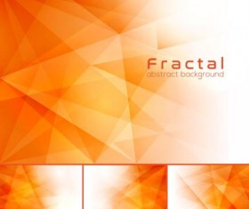 orange fractal abstract background vector