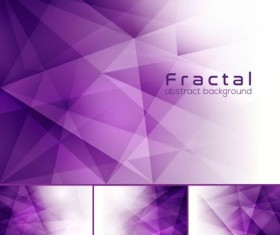 purple fractal abstract background vector