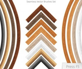 wooden border seamless vector