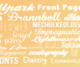 20 Kind common fonts set