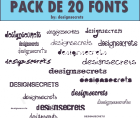 20 Kind commonly fonts