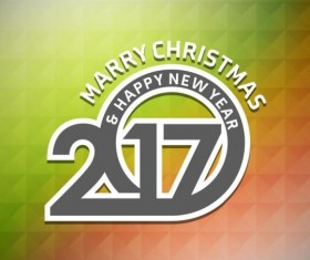 2017 christmas and new year with geometric background vector 08