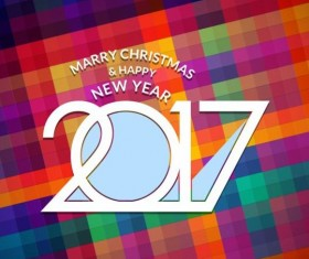2017 christmas and new year with geometric background vector 10