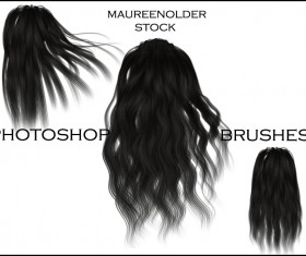 3 Kind hair photoshop brushes