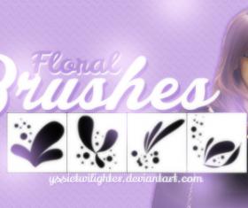 4 Kind Floral Brushes set