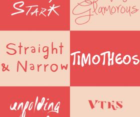 6 Kind creative font