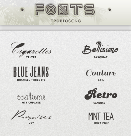 8 Kind Vintage Fonts set