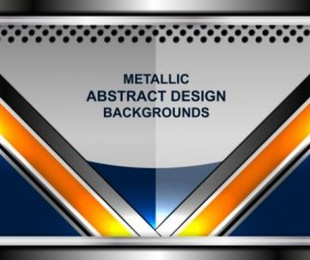 Abstract metal backgrounds design vector