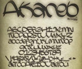 Akareb fonts