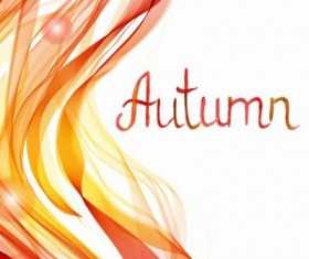 Autumn abstract art background vector